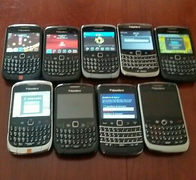 Job lots Untested 9 Blackberry Mobile Phones