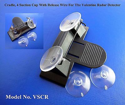 Replacement Cradle, Suction Cup+Release Wire For The Valentine V1 Radar Detector