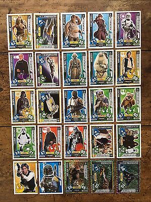 Star Wars - Force Attax 2017 (TOPPS collector cards) 25 x Cards Mixed Lot #03.