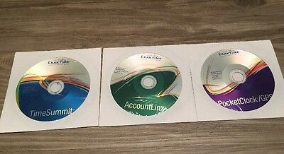 JobClock System by Exaktime Software Only 3 CDs With Product Keys.
