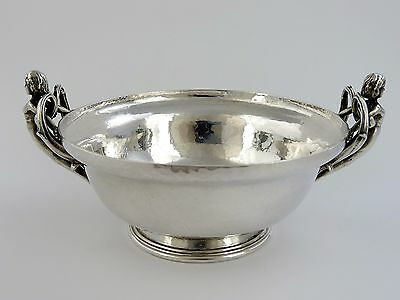 Stunning quality OMAR RAMSDEN SILVER FIGURAL BOWL, London 1936 female handles