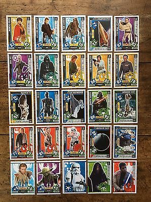 Star Wars - Force Attax 2017 (TOPPS collector cards) 25 x Cards Mixed Lot #05.