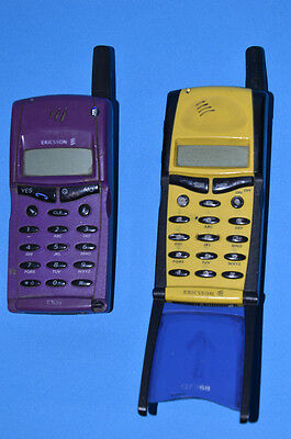 2 Vintage Ericsson GF768  T10s Cell phone Mobile phone FOR PARTS