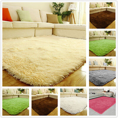 Large Fluffy Rug Anti-Skid Shaggy Area Dining Room Carpet Floor Mat Home Bedroom