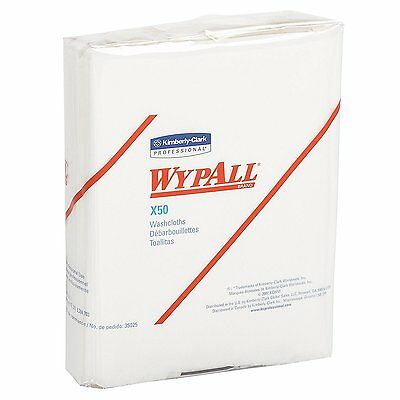 Wypall X50 Disposable Wipers (35025), Quarterold, 32 Packs / Case