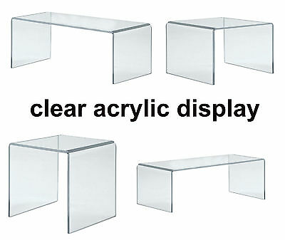 Clear Acrylic Plastic Perspex Display Stand - Exhibition Riser Plinth Bridge