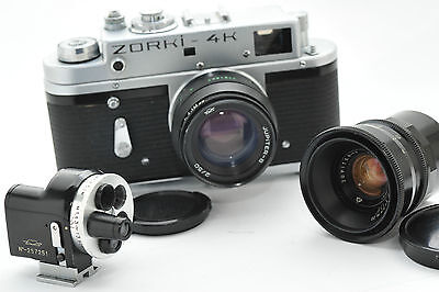 ZORKI 4K with lenses : Jupiter 8,  Jupiter 12 and turret viewfinder