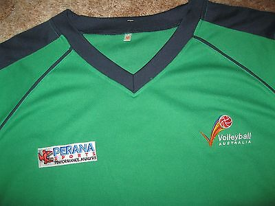 Volleyball Australia Players Issue Volleyball Jerseys X 2 Green & Gold (Medium)