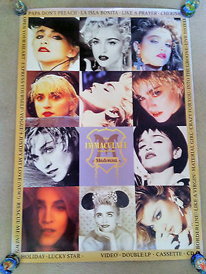 Madonna Rare Immaculate Collection EX Promo Display Poster