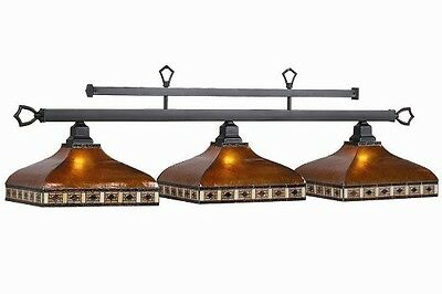 Pool Billiard Table Light Tahoe Amber Mica Shades TAH-B56 w/ FREE Shipping