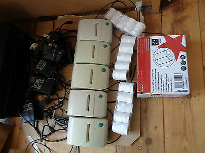 5x able thermal barcode printers with 15 rolls
