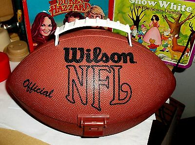 Wilson NFL Official`1970s?`Football Shaped Lunchbox With Drink Bottle,Free To US