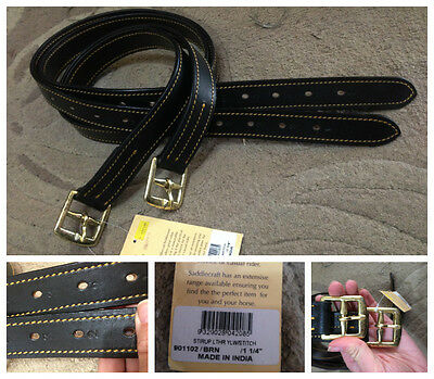 New dark brown stiched & numbered stockmans stirrup leathers