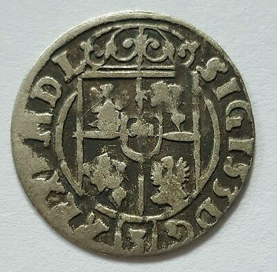 RARE MEDIEVAL SILVER HAMMERED COIN- GREAT DETAILS - Date 1623 Patina
