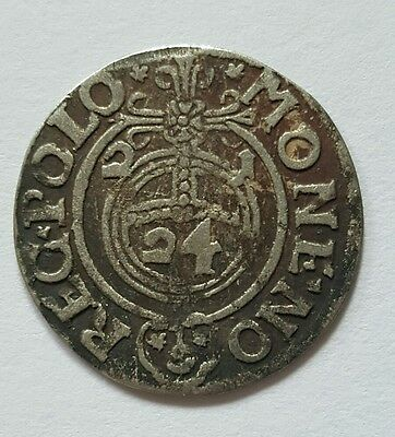 RARE MEDIEVAL SILVER HAMMERED COIN- GREAT DETAILS - Date 1621 Patina