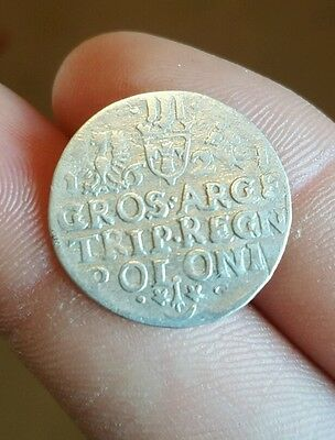 RARE MEDIEVAL SILVER HAMMERED COIN- GREAT DETAILS - Date 1621