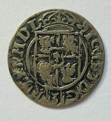 RARE MEDIEVAL SILVER HAMMERED COIN- GREAT DETAILS - Date 1622 Patina
