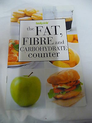 FAMILY CIRCLE mini cookbook THE FAT, FIBRE, and CARBOHYDRATE COUNTER EUC