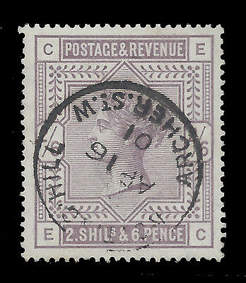 1883 2/6 lilac,  S.G.178,  very fine cds used