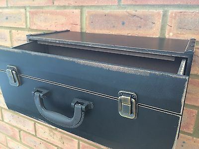 Wooden Shelf Drawer Vintage Suitcase Style Black Industrial Wall Hanging Unit