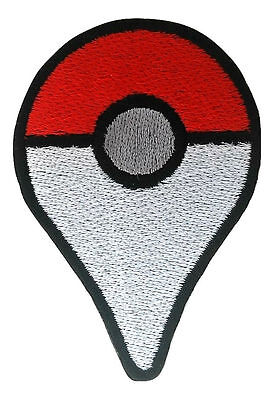 Pokemon Go Plus Embroidered Patches Sew Iron On Cap Badge Jacket Jeans Applique