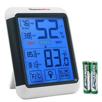 ThermoPro Indoor Digital LCD Thermometer Hygrometer Temperature Humidity Monitor