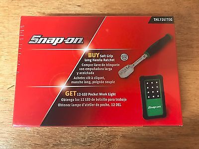 "JULY 4th SALE Snap-On Tools 1/4"" Drive GREEN RATCHET LED LIGHT SET USA THL72"