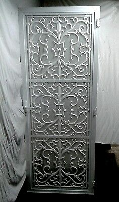 Cast Aluminium Security Screen Door/ White Powder Coat
