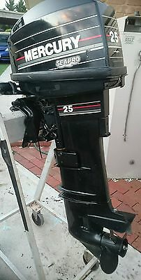 25 HP Mercury seapro outboard  Ex Army stock with Full service history.