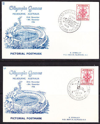1956 Melbourne Olympics  52  postcards  with different postmarks .Full set. RARE