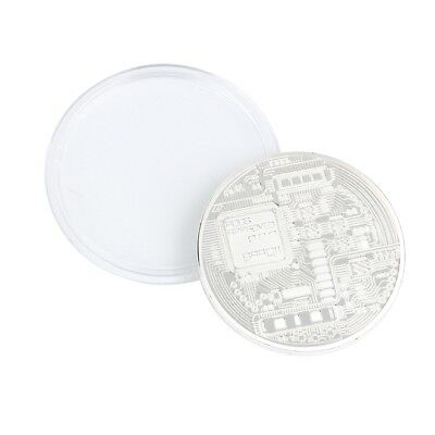 Silver Plated Bitcoin Coin Collectible Art Coin Directly to your wallet CG