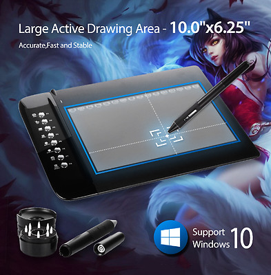 New UGEE M1000L Art Graphics Drawing Digital Tablet Ultra Thin Large Active Area