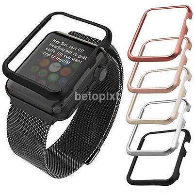 Aluminum Metal Protective Case Cover Bumper For Apple Watch Series1/2 38/42mm FR