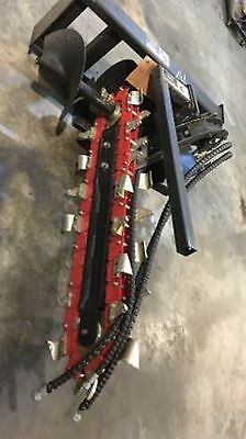 """NEW Skidsteer Trencher Attachment, 36"""" x 8"""" skid steer ditch witch"""