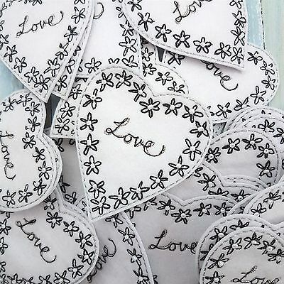 30 X Bundle Job Lot Love Heart Embellishments Toppers Craft Scrapbooking Cards