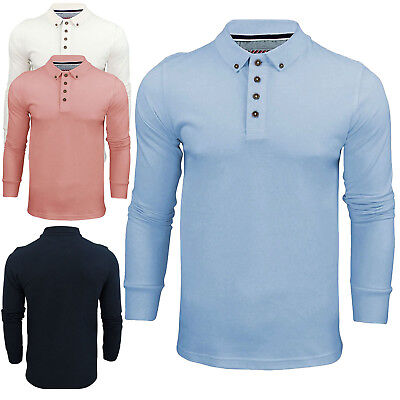 Brave Soul Mens TShirt Long Sleeve Button V-Neck Collar Warm Polo Casual Shirt M