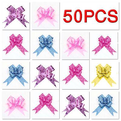 50pc Pull Bows 30mm Large Small Florist Ribbon Wedding Car Decorations Gift Wrap