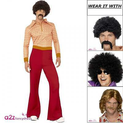 Mens Authentic 70's Guy Disco Man 1970s Retro Vintage Adult Fancy Dress Costume