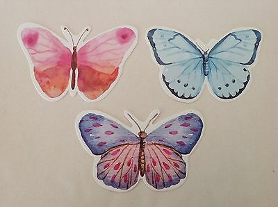 Lotto Set 3 Farfalle Colorate Post Card ~ Segnalibri Butterflies Bookmarks