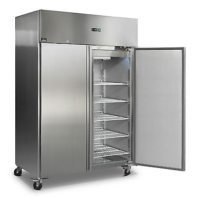Upright Commercial Fridge 1200 Liters Embraco Compressor Stainless Steel