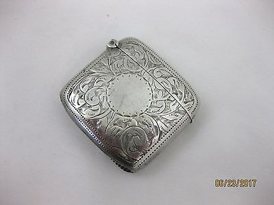 Antique Solid Silver  PRETTY VESTA CASE Hallmarked  BIRMINGHAM 1899