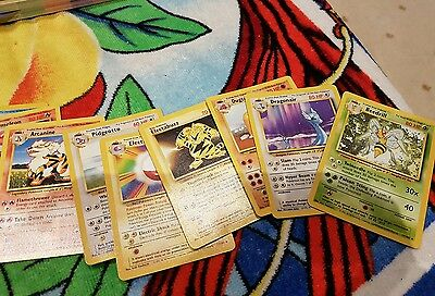 Pokemon TCG CCG Base Set Common, Uncommon and rare. Number 17-102
