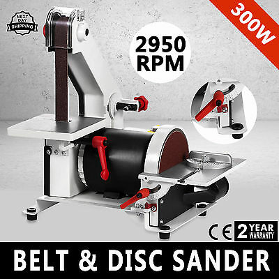 1 x 5 Belt Disc Linisher Sander 300W Power Tool Grinder Tilting Table WELL Great