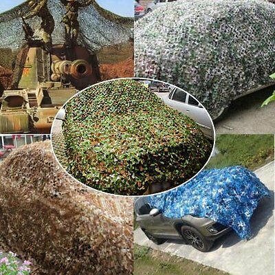 New Woodland leaves Camouflage Camo Army Net Netting Camping Military Hunting BG