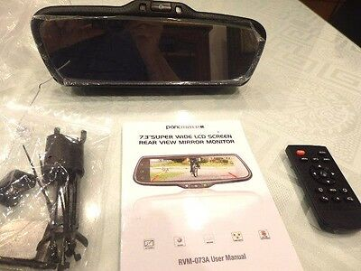 """NEVER USED - Parkmate RVM-073A 7.3"""" Super Wide LCD Rear view Mirror Monitor"""