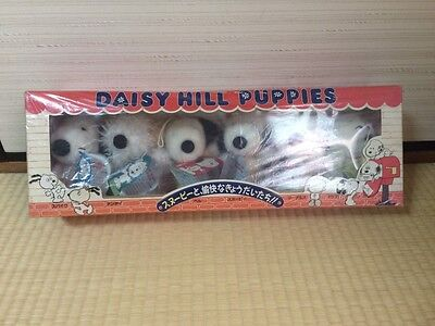 """Vintage"""" DAISY HILL PUPPIES """" Snoopy with Brother Plush doll 6pcs set toy F/S"""