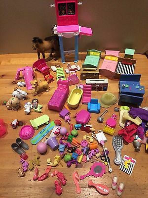bundle of mixed gorls toys/doll accessories,barbie,pets,other