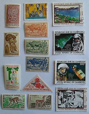 Cameroun stamps,lot of 14 mixed
