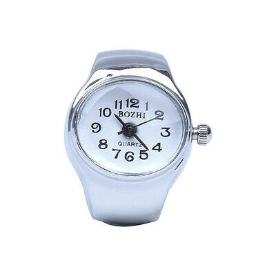 Watch Quartz Movement Oval Ring Alloy Deco Woman WHITE D5I9