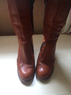 Original 70's Leather Boots Size 5